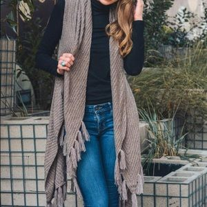 Jackets & Blazers - Mocha Mod Length Sweater Vest NWT